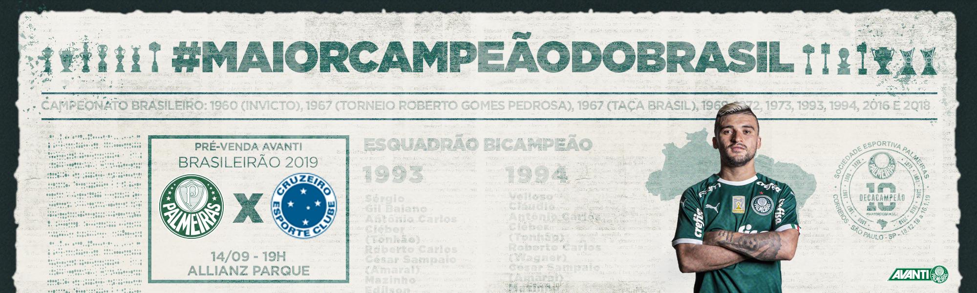 Pre venda Palmeiras x Cruzeiro