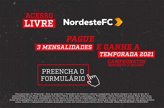 Banner Acesso Livre>>pague 3 mensalidades e ganhe temporada 2021